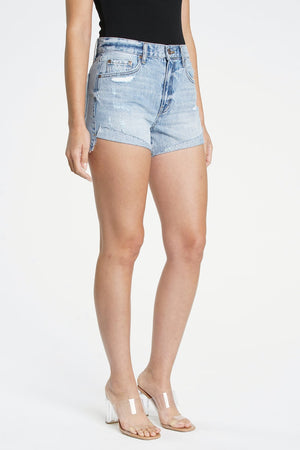 Devin High Rise Cuffed Denim Short
