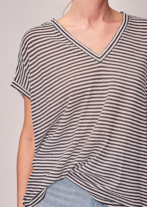 Oversize Stripe Top