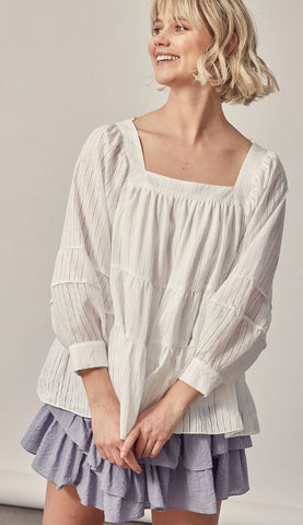 Shadow Stripe Blouse