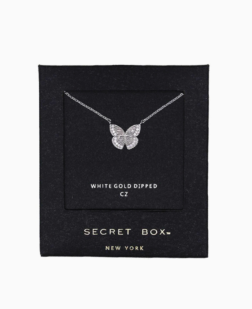 CZ Edge Dainty Butterfly Necklace