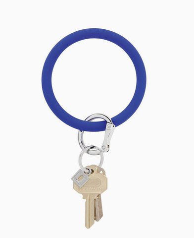 Blue Me Away Silicone O Key Ring