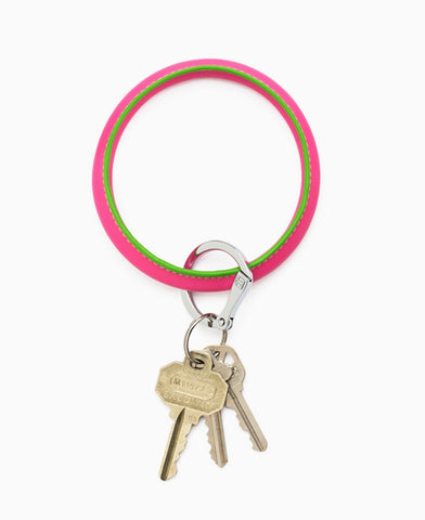 Tickled Pink O Key Ring