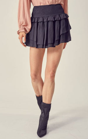 Never Enough Mini Skorts-Black