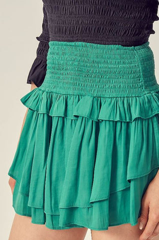 Never Enough Mini Skorts-Green