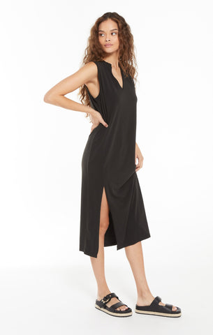 TAWNEY NOTCH FRONT DRESS