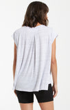 Riley Speckle Tee-White