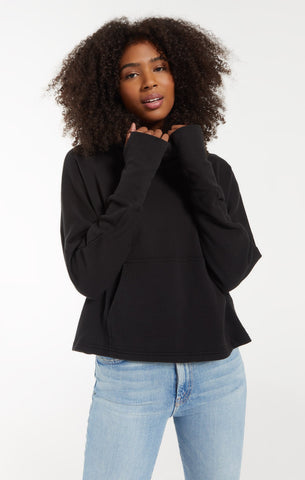EASY COWL TOP-BLACK