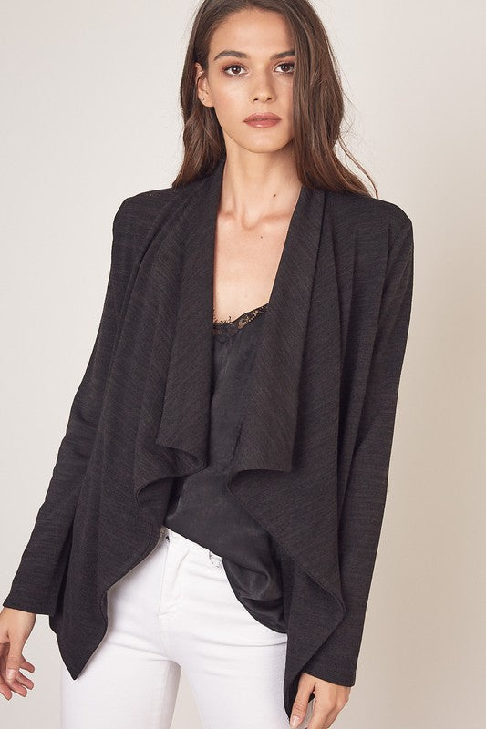 Collar Wrap Cardigan
