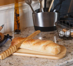 Bamboo Board Bread w/knife