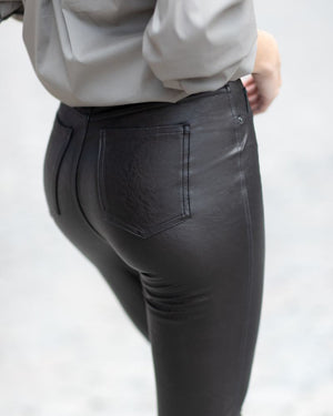 Leather-Like Ankle Skinny Pant-Spanx