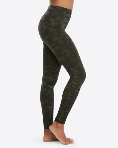 Green Camo Seamless Leggings-Spanx