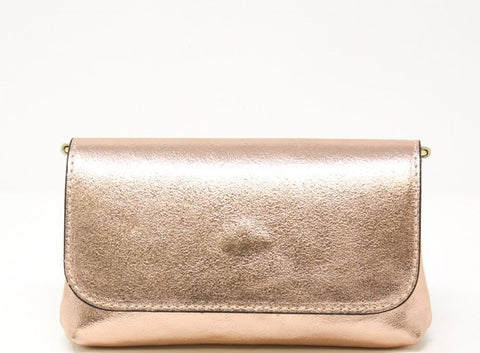 Mini Leather Bag-Rose Gold