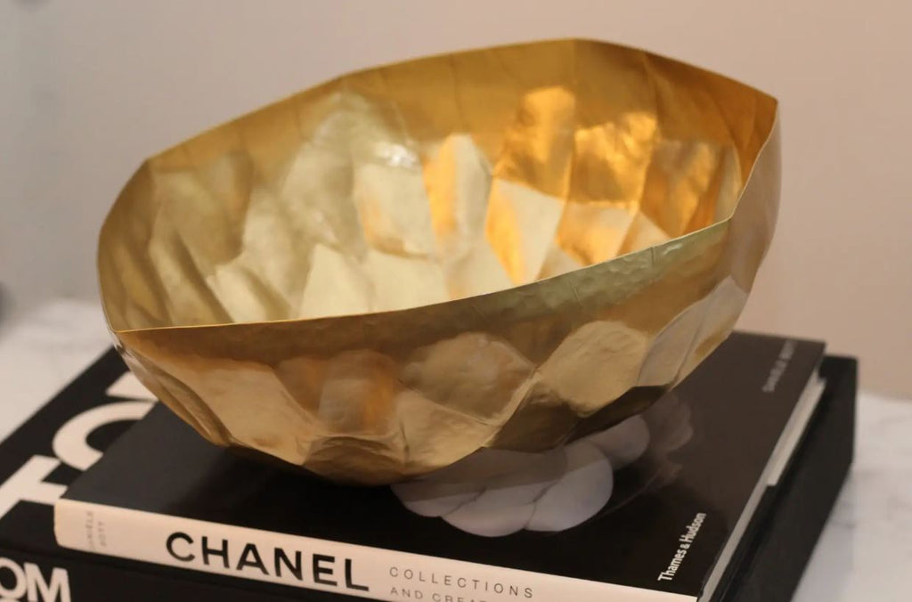 Gold Texture Bowl Large Handmade