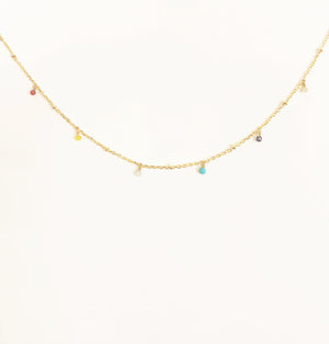 Multi-Color Beaded Chain Chocker