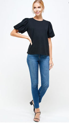 Piffy Puff Tee- Black
