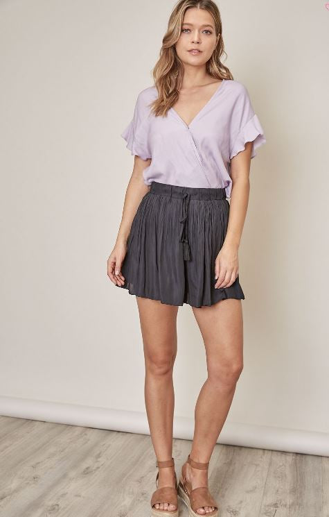 Pleated Skort Mini
