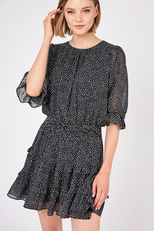 Woven Dot Dress