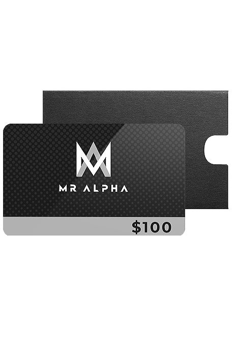 MR ALPHA GIFT CARDS