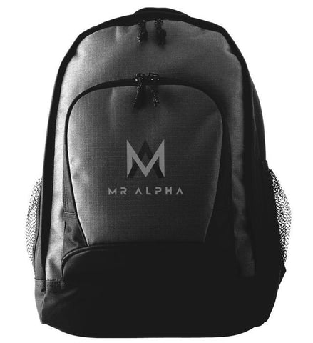 Two Compartment Black Backpack With Side Pockets