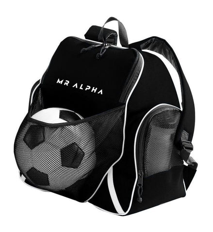Backpack With Ball Compartment - Black