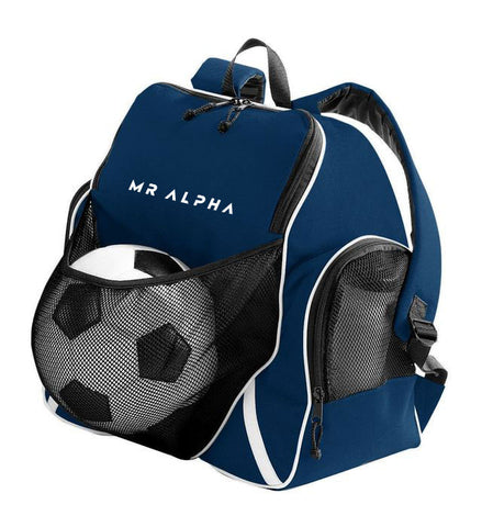 Backpack With Ball Compartment - Navy