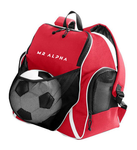 Backpack With Ball Compartment - Red