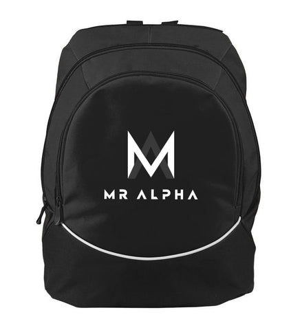 Two Compartment Black Backpack