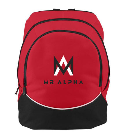 Two Compartment Red Backpack