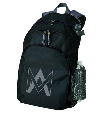 Three Compartment Backpack - Black