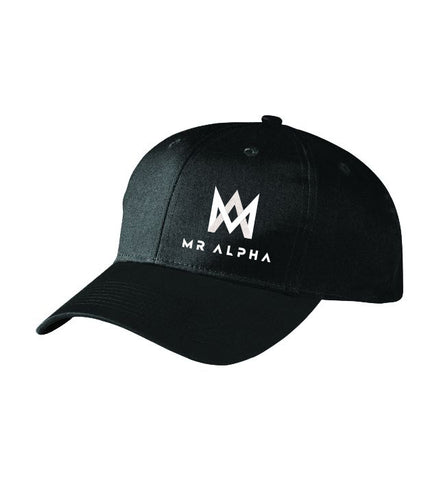 Six Panel Baseball Cap Black
