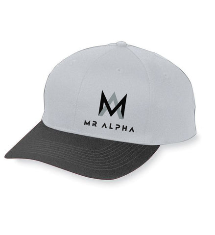 Six Panel Baseball Cap Grey/Black