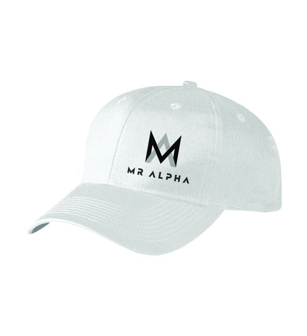 Six Panel White Baseball Cap