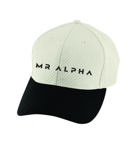 Six Panel Mesh Athletic Cap Grey/Black