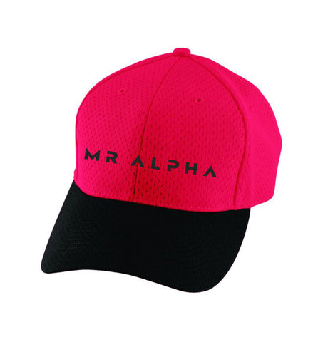 Six Panel Mesh Athletic Cap Red/Black