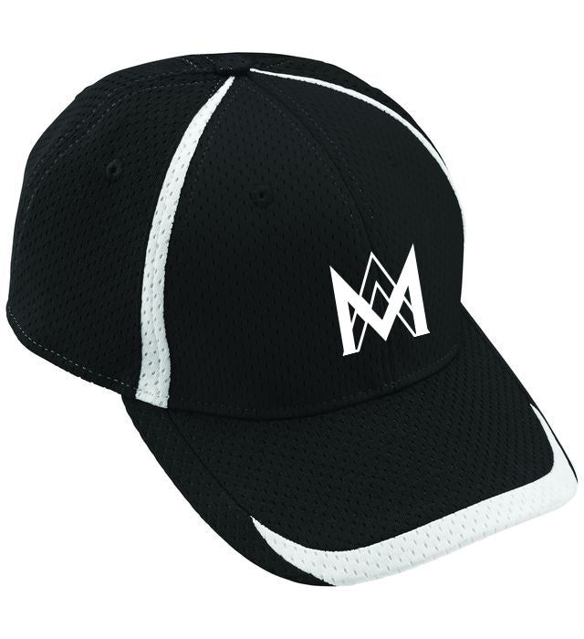 Athletic Mesh Baseball Cap - Black