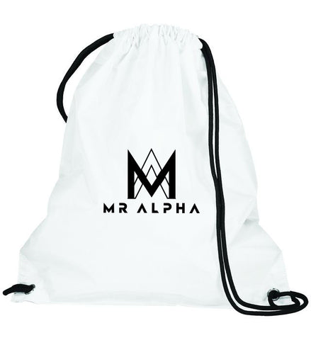 White Drawstring Bag