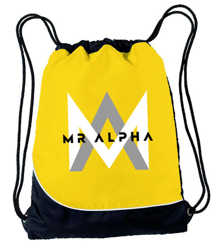 Yellow Drawstring Backpack