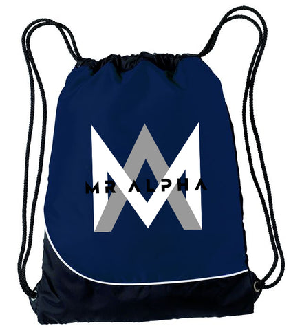 Navy Drawstring Backpack
