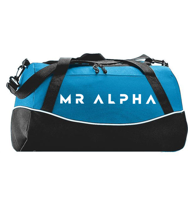 Blue & Black Sports Duffle Bag