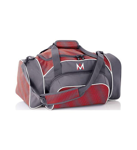Grey/Red Travel Duffle Bag