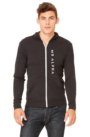 Lightweight Zip Up Hoodie Charcoal