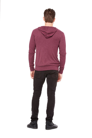 Lightweight Maroon Zip Up Hoodie