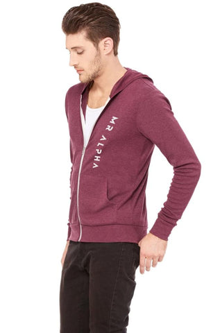 Lightweight  Zip Up Hoodie Maroon