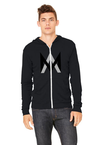 Lightweight Zip Up Hoodie Black