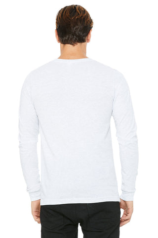 Heather White Crew Neck Long Sleeve Shirt