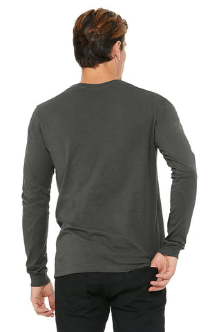Grey Crew Neck Long Sleeve Shirt