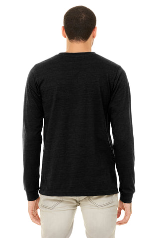 Heather Black Crew Neck Long Sleeve Shirt