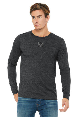 Charcoal Crew Neck Long Sleeve Shirt