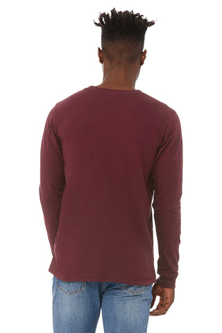 Dark Red Crew Neck Long Sleeve Shirt