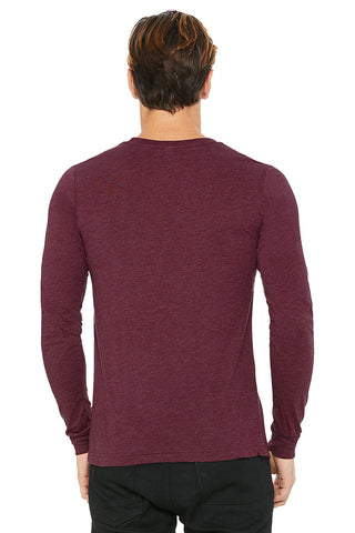 Maroon Crew Neck Long Sleeve Shirt